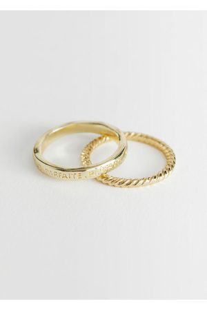& OTHER STORIES Women Rings - Embossed Ring Set