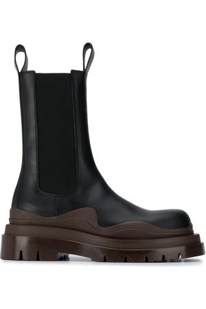 Bottega Veneta Chunky two-tone leather boots