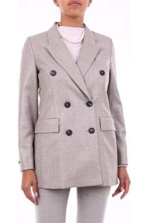 PESERICO SIGN Blazer Women and platinum virgin wool - polyester and spandex