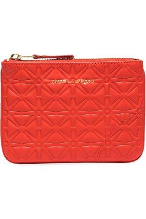 Comme des Garçons Men Wallets - Embossed-pattern leather pouch