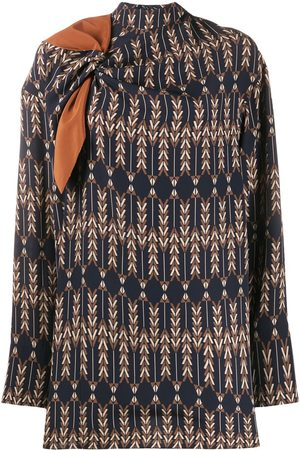 Stella McCartney Zadie knotted high neck blouse