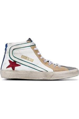 Golden Goose High-top distressed-finish sneakers