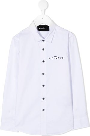 John Richmond Junior Embroidered logo long-sleeved shirt