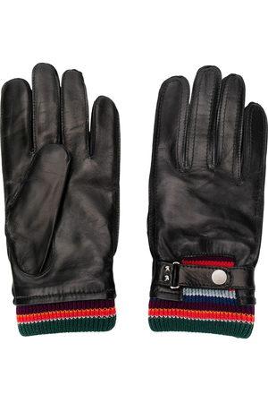 Paul Smith Men Gloves - Stripe detailed driving gloves