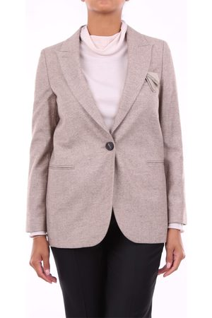 PESERICO SIGN Blazer Women Sand wool - silk - polyamide and elastane