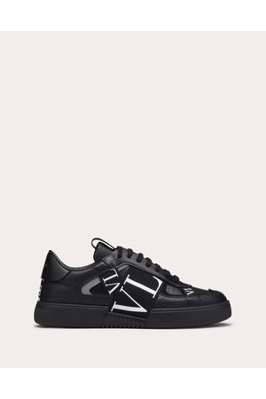 VALENTINO GARAVANI Men Sneakers - Calfskin Vl7n Sneaker With Bands Man Polyurethane 55%, Cotton 45% 39.5
