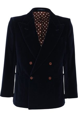 Gucci Double Breast Cotton Blend Velvet Jacket