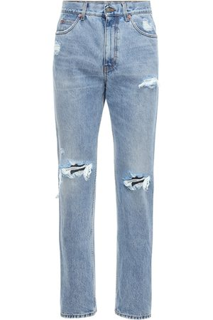 Gucci 21cm Destroyed Cotton Denim Jeans