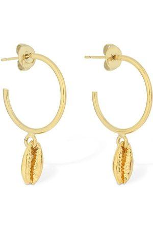 Isabel Marant Amer Shell Shape Charm Hoop Earrings