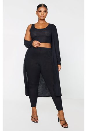 PRETTYLITTLETHING Plus Knitted 3 Piece Legging Set