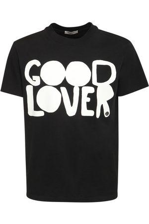 VALENTINO Good Lover Print Cotton T-shirt