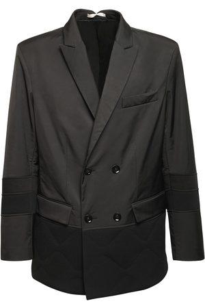VALENTINO Bimaterial Double Breasted Nylon Jacket