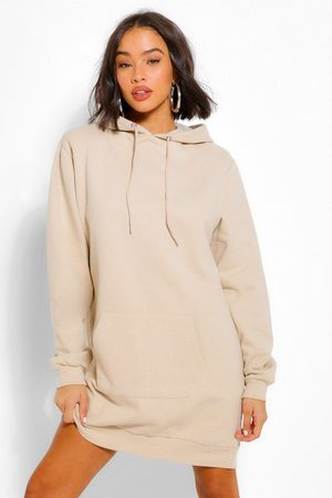 Boohoo Womens Shoulder Pad Oversized Sweater Dress - - 4