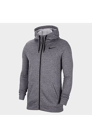 Nike Men's Therma Training Full-Zip Hoodie in Grey/Charcoal Heather Size MT 100% Polyester