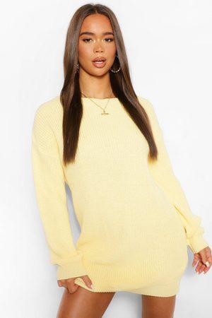 Boohoo Womens Crew Neck Sweater Dress - - L/Xl