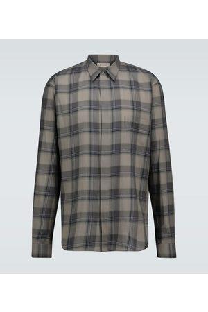 Rochas Men Long sleeves - Raffaella checked cotton shirt