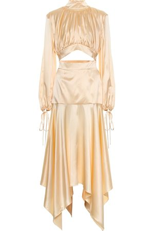 Matériel Tbilisi Silk-satin midi dress