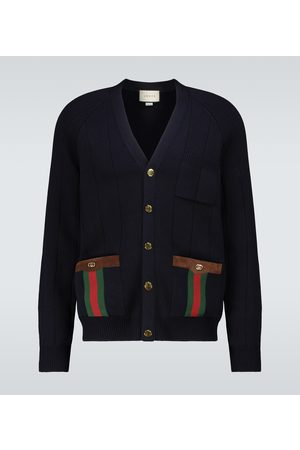 Gucci Wool-blend V-neck cardigan