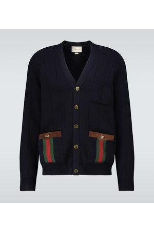 Gucci Wool-blend V-neck cardigan