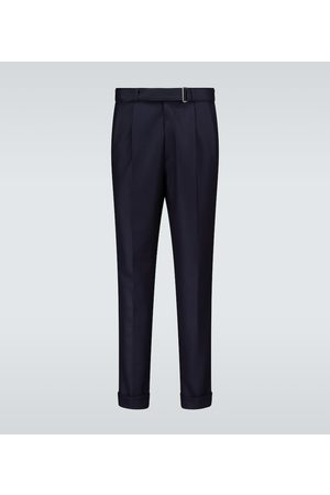 OFFICINE GENERALE Luigi pleated wool flannel pants