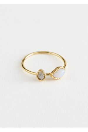 & OTHER STORIES Duo Stone Pendant Ring
