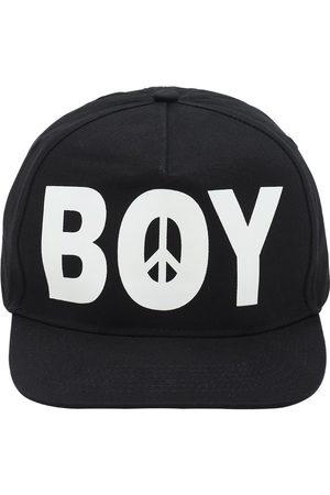 BOY LONDON BY SHANE GONZALES Logo Peace Print Cotton Cap