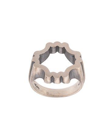 M. COHEN Men Rings - Structured ring - Metallic