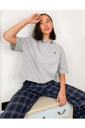 Fred Perry Polo Shirts - Oversized pique shirt in