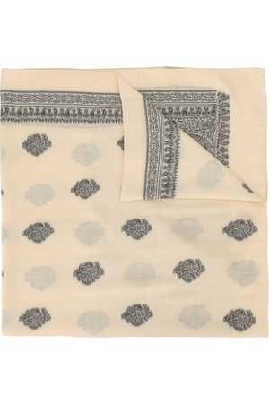 Etro Men Scarves - Paisley embroidered oversized scarf - Neutrals