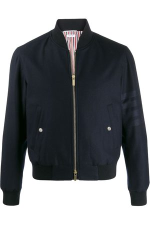 Thom Browne 4-Bar zipped bomber jacket