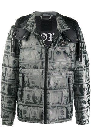 Philipp Plein Dollar padded jacket - Grey