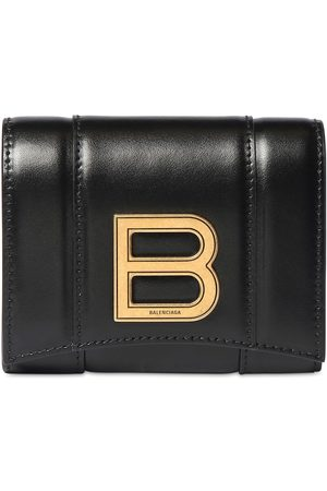 Balenciaga Hour Compact Leather Wallet