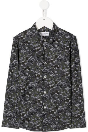 Paolo Pecora Floral long-sleeve shirt - Grey