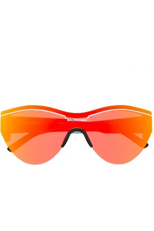Balenciaga Women Round - Reflective round-frame sunglasses