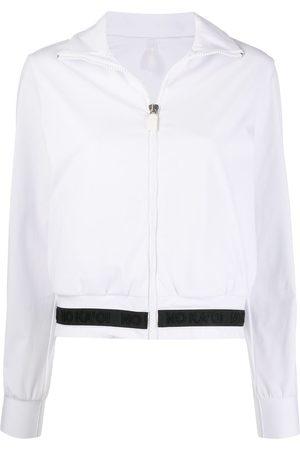 NO KA' OI Zipped two-tone track jacket