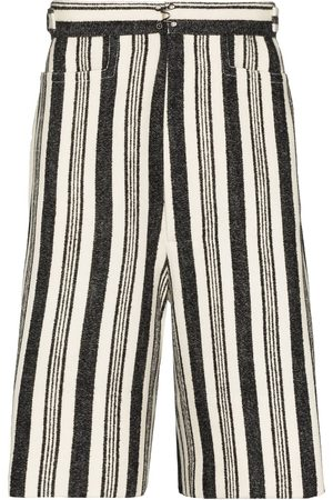 Pronounce Stripe-pattern Bermuda shorts - Multicolour
