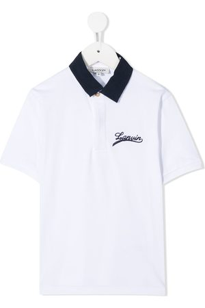 Lanvin Logo embroidered polo shirt