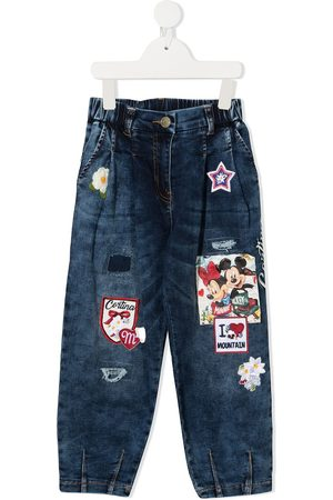 MONNALISA High-waisted multi-patch jeans