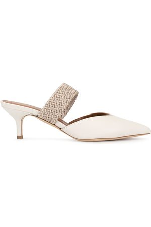 MALONE SOULIERS Maisie mid-heeled mules - Neutrals