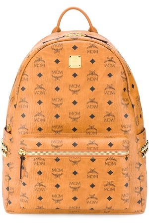 MCM Men Rucksacks - Visetos logo-print Stark studded backpack