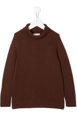 Paolo Pecora Logo patch roll neck jumper