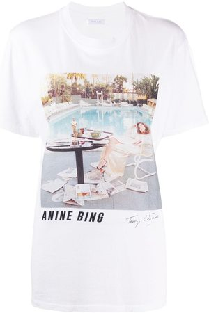 ANINE BING Photographic-print cotton T-shirt