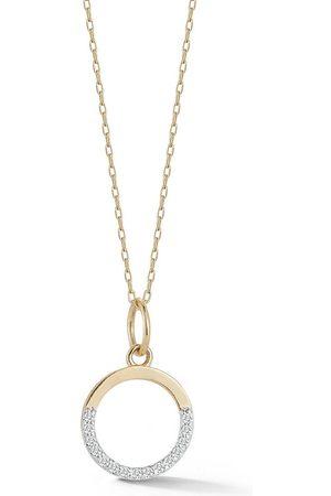 Mateo Small Half Moon pendant with diamonds