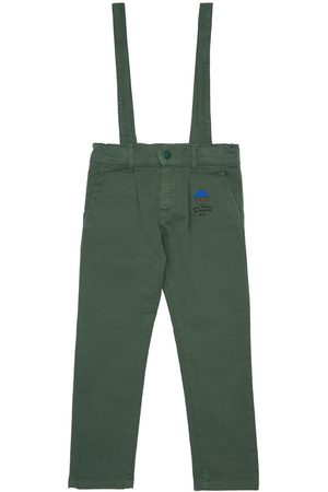 Bobo Choses Stretch Denim Jeans W/ Suspenders