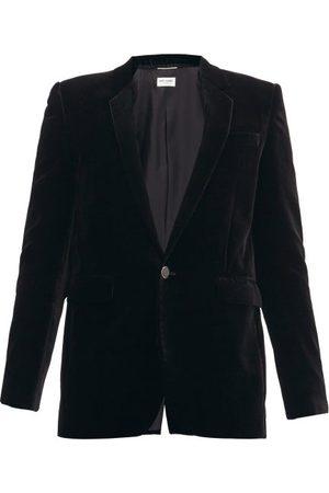 Saint Laurent Single-breasted Velvet-corduroy Jacket - Mens