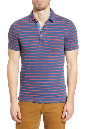 Faherty Men's Breton Stripe Pocket Polo