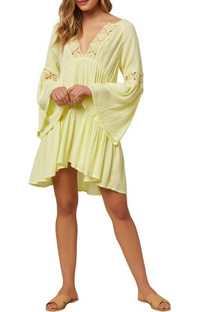 O'Neill Women's Saltwater Solids Long Sleeve Cover-Up Tunic Dress