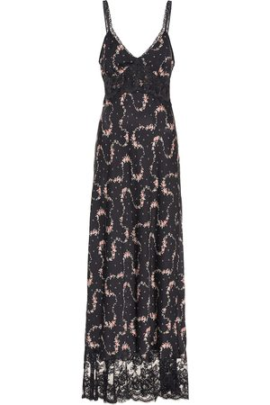 Paco rabanne Lace trimmed maxi dress