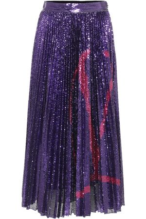 VALENTINO VLOGO sequined midi skirt