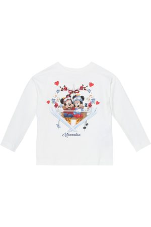 MONNALISA X Disney® stretch-cotton top